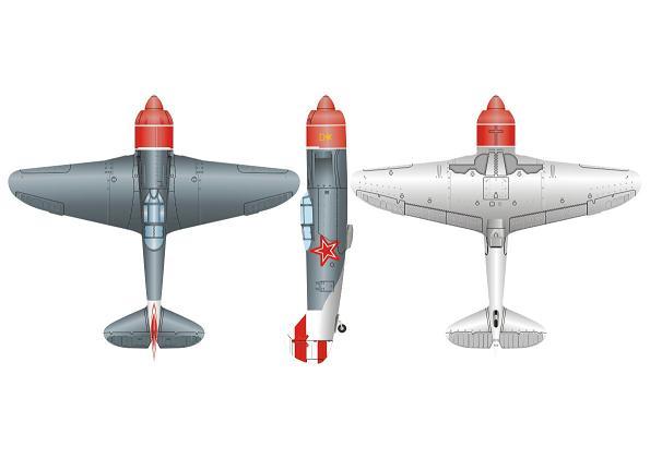 بدنه هواپيما الكتريك تيغه اي La-7 3D