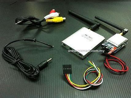 سيستم ارسال تصوير برد 500 متر  5.8G 200mw FPV Wireless AV Tx & Rx Set