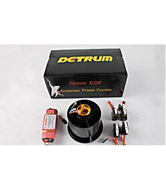 detrum 70mm EDF (داكت و موتور70mm قدرت 3000kv-1200gr )