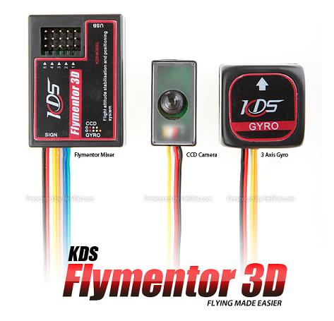 KDS Flymentor 3D Auto pilot خلبان خودكار هواپيما و هليكوپتر جايرو 3 بعدي