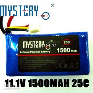 Mystery 11.1V 1500mAh 25c lithium