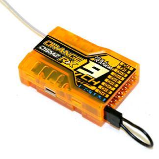گيرنده orange RX DSM2 9ch 2.4Ghz(براي راديو jr)