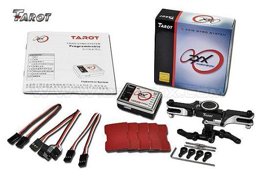 tarot 3 axis gyro (gyro fly barless) مخصوص هواپيماي 3D و quad rotor