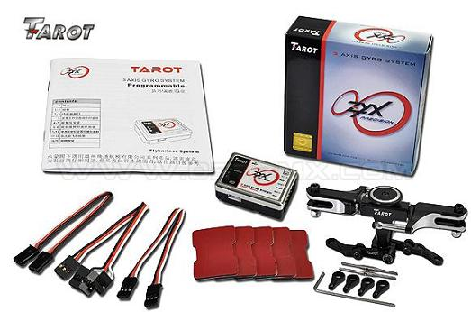 """tarot 3 axis gyro S"""" gyro fly barless"""" مخصوص هواپيماي 3D و quad rotor"""